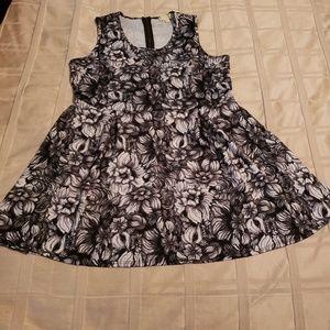 NICKI MINAJ floral flare sleeveless dress, 3XL